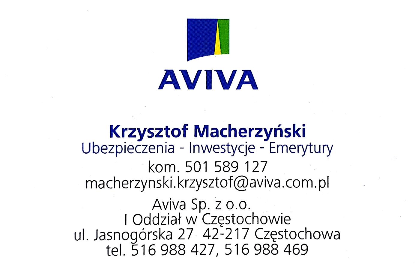 http://dobraszkola.edu.pl/gfx/upload/Ubezpieczenie/8. Krzysztof Macherzyński AVIVA - wizytówka.jpg